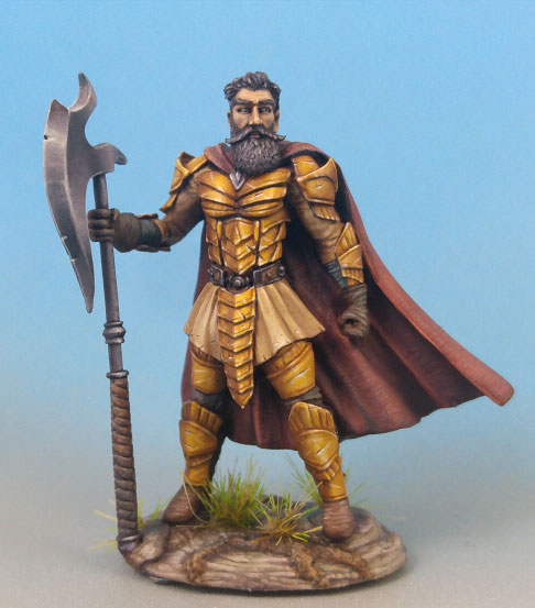 DSM7464 Male Warrior with Great Sword/Great Axe Weapon Options